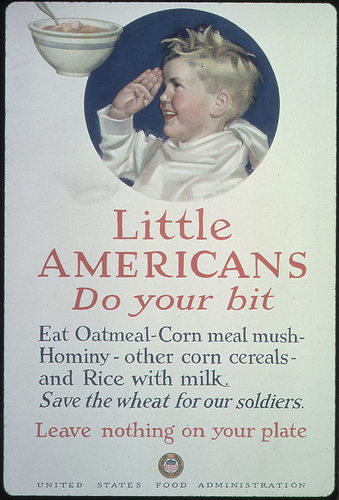 Outside of wartime, this might not be the best advice. FDA poster, ca 1918.