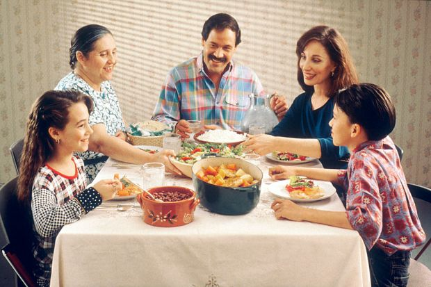 Family meals don't have to look like this. Credit: National Cancer Institute, Public Domain.